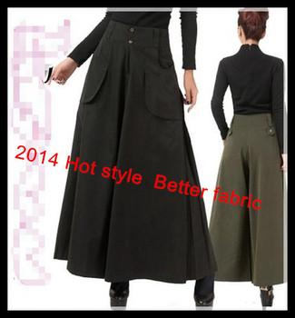 2014 лучше ткань женщин широкую ногу брюки trousersfeet свободного покроя брюки широкого ...