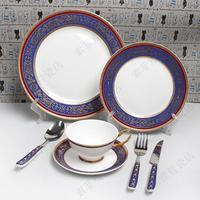 Fashion swing sets tableware guzhici western-style tableware romantic west tableware
