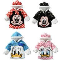 Children's fleece jacket coat cartoon models , casual fleece baby clothes guard coat shirt, free shipping