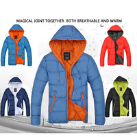Special Offer 2014 Mens Jacket Men's Hooded Wadded Coat Winter Thickening Outerwear Male Slim Casual Cotton-Padded Outwear