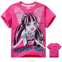 Wholesale New 2014 Summer Clothing for kids Fashion Monster High t-shirt Girl's t shirt Cotton Children  t shirts Kid t-shirts
