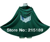 Wholesale TITAN costume green cloak cape CARTOON  Shingeki no Kyojin/Attack on Titan Eren Jaeger Anime cosplay cape robe 4 Size