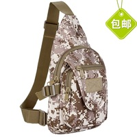 2014 New Real Freeshipping Women Canvas Male Chest Pack Outside Sport Female Camouflage Small Bag Ride Single Shoulder Messenger
