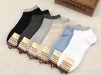 Free shipping wholsale men's sport short socks summer socks factory direct solid color cotton socks mesh