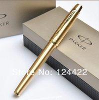 parker gold international standard refill roller ball pen with gift box ballpen novelty pen ball point pen free shipping