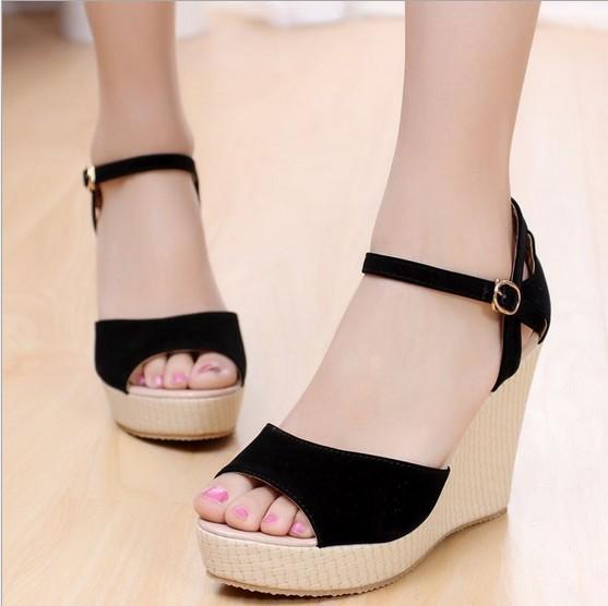 Sandali donne, sandali moda, zeppe sandali, peep- toe piattaforma cuneo impermeabile sandali tacco alto scarpe da donna, pantofole