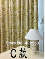 Ready-made curtains shade cloth upscale thick foliage idyllic American country custom curtains living room bedroom