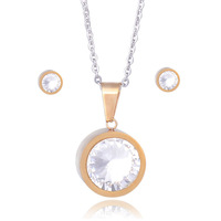 New 2014 vintage jewelry set for women,statement 316L Stainless steel necklaces & pendants & earring Jewelry accessories JS019