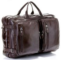 FREE Ship Multi-Function Hot Men's Full Grain Real Leather Backpack Luggage Bag Travel Duffle Bag  Leather Shoulder Bag M150
