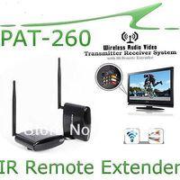 2014 new arrival,high quality Wireless AV  Video Audio Sender IR Extender Wireless Transmitter 350m PAT260,suitable for 2floor