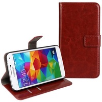 New High Quality Wallet Cover For Samsung Galaxy S5 i9600 Leather Flip Case With Card Holder Stand Function Mobile Phone Bag