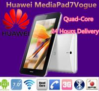 Original huawei MediaPad 7 Vogue Android 4.1 quad-core 1024x600 phone call tablet PC 1GB RAM 8GB ROM dual camera WCDMA 4100mA