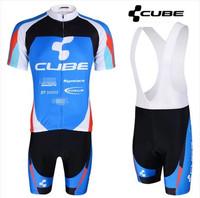 Hot Sale ! 2014 CUBE Outdoor Bike Cycling Jersey and bicicleta bib Shorts Ciclismo Clothing MTB Sportswear SZ0087