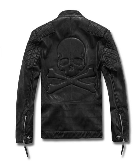 TUML14002 high quality genuine leather jacket men,mens leather jacket overcoat ,leather jacket man free shipping(China (Mainland))