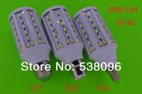 NEW E27 B22  E14 71 LED Chip 5730 SMD 20W 2000LM LED lights 110V/220V/AC LED Corn Bulbs Lanp Warm white / White Free Shipping