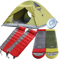 2air outdoor products double layer tent sleeping bag inflatable moisture-proof pad camping bundle set