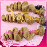 Rosa hair Peruvian Virgin Unprocessed Human Hair Egg Curl blonde color Hair Weaving 3or4pcs/Lot Free Shipping Hair Weft