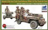 Bronco 35170 1/35 scale British 6 Pdr Anti-Tank Gun(Airborne)With 1/4 Ton Truck & Crew