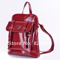 Preppy style student backpack female fashion backpack vintage oil wax PU leather Korean style backpack famous brand