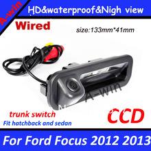 Ccd обратный парковки камера заднего вида для форд фокус 2012 2013 как хэтчбек и седан для focus2 focus3 переключатель