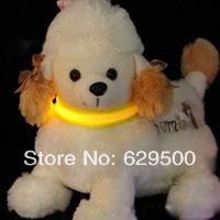 Glow Pet Cat Dog LED Collar Safety Flashing Lighting Up Collar Harness