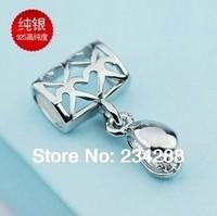 Free shipping DIY mesh Hollow oval pendant jade pendant buckle clasp rhodium-grade crystal clip