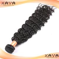 Super real natural human hair weave natural  deep wave  Indian  human hair weft no shedding no dyed hair extension CB68