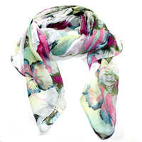 free shipping fashion trendy dots flower scarves scarf for 2014