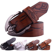 Free Shipping,  Fashion Design Men's Belt, PU & Cowskin Strap With Metal Buckle 806, Drop Shipping