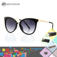 AEVOGUE with Original case cat eye sunglasses women Brand Fashion spectacles Multicolor optic glasses gafas oculos de sol AE0085