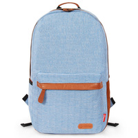New casual linen canvasstudent backpack