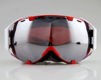 GREEN FRAME COLOURED DOUBLE LENS ADULT MOTOCROSS SNOW SNOWBOARD SKI GOGGLES