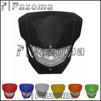 PAZOMA MOTORCYCLE  Dirtbike Supermoto Streetfighter Universal Motorcycle Headlight Fairing headlamp