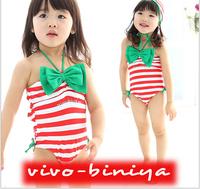 hot! retail baby girls striped swimwear for Little Girls halter Swimsuit beach wear free shippng