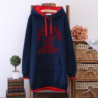 Free Shipping !  Autumn and Spring Women Large size Sweatshirt ,Female Medium-long Casual New arrival Hoodies L XL XXL XXXL 4XL