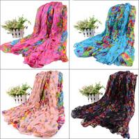 big size 180*110cm  Flowers pleated fluid female long scarf beach towel large cape shawl silk scarf