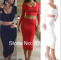 New Arrived !! spring 2014 The Fashion Sexy party dresses Women's summer two piece dress 7 colors Free-shipping