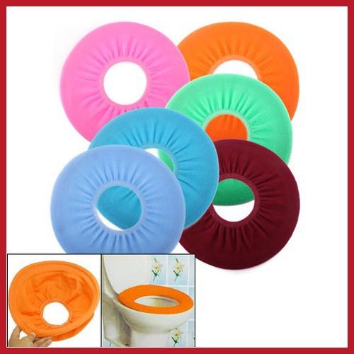 fashion brand! chinafactory Bathroom Warmer Toilet Washable Cloth Seat Cover Pads High Qualit salable(China (Mainland))