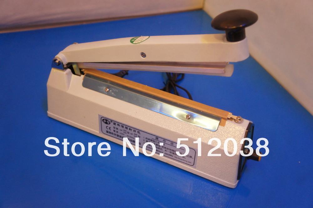 "8"" 200mm impulse sealer SF-200 , Heat Sealing Plastic Bag Closer , 8mm width Heating element ,metal case ,can print date number(China (Mainland))"