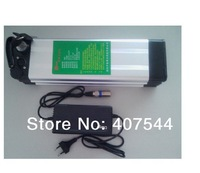 1000 times cycle  36V   10Ah electric bike  battery bar slim Aluminum case  with free BMS,charger and 42V 2A charger