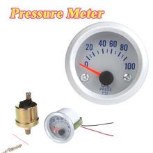 "Car Oil Pressure Meter Gauge with Sensor for Auto Car 2"" 52mm 0~100PSI Orange Light(China (Mainland))"