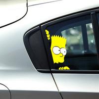 2 Size Ebay UK hot BART RETRO the SIMPSONS Vinyl Sticker on Car DOOR Car Windows decoration sticker Car decal sticker 2pcs/lot