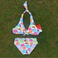 Hello Kitty Swimsuit/Swimming Costume Bikini Swimwear Cartoon Chlidren Girls Swimsuits