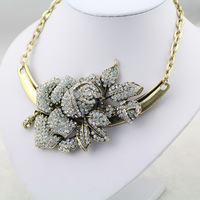 #648 2014 New Flower Choker Necklace&Pendant Statement Necklace For Women Costume Accessory Free Shipping
