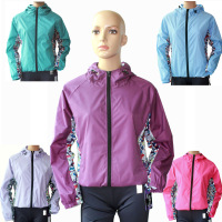 Female spring and autumn thin windproof waterproof lovers design outside sport casual outerwear with a hood - chromophous
