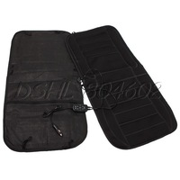 12V Black Double Car Heated Seat Cushion Wearproof for Car Driver Pack of 2