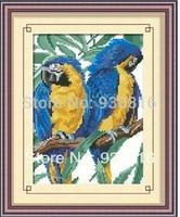 Diy handmade diamond painting rhinestone full pasted painting square drill resin parrot