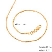 "20"" long women beads snake box gold chain 50cm 1.2mm 5.2 grams 18K yellow gold filled thin chokers necklace  ROXI handmade"