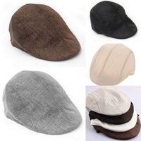 New Unisex Womens Mens Newsboy Flat Cabbie Linen Beret Duckbill Golf Driving Cap Hat Boina