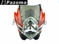 PAZOMA MOTORCYCLE Red Streetfighter Nake Headlight Head light fits for ducati yamaha kawasaki suzuki